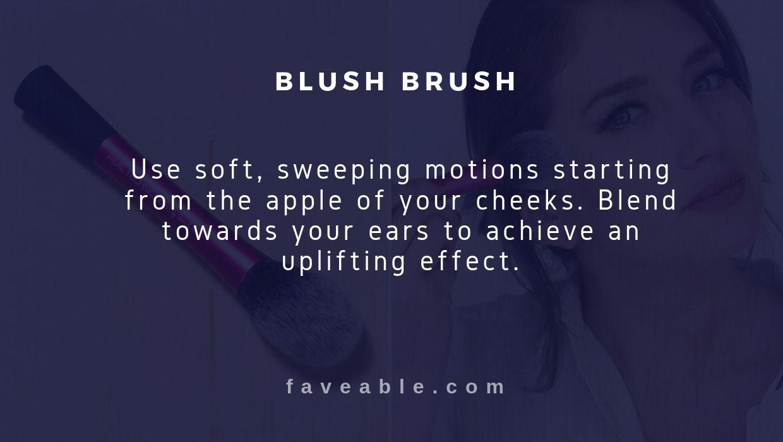 blush brush instructions