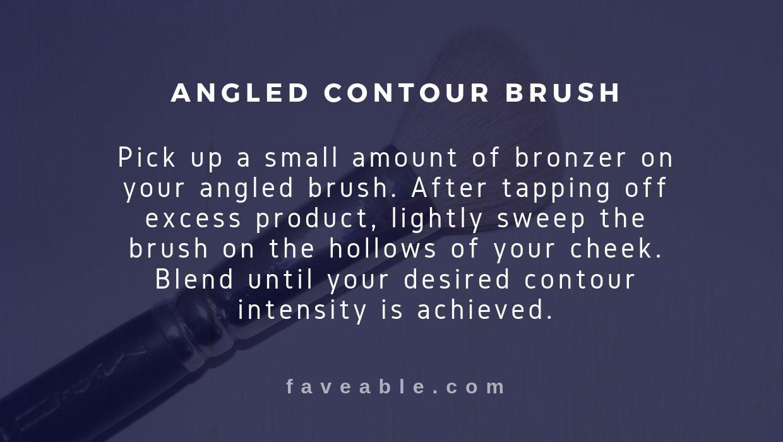 angled contour brush instructions