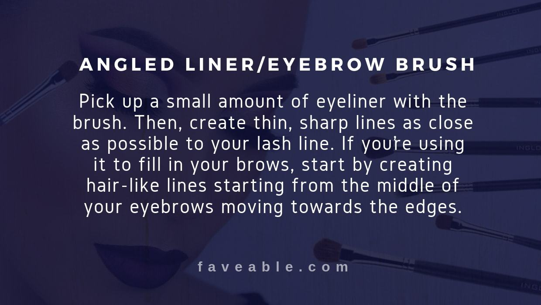 angled liner eyebrow brush instructions