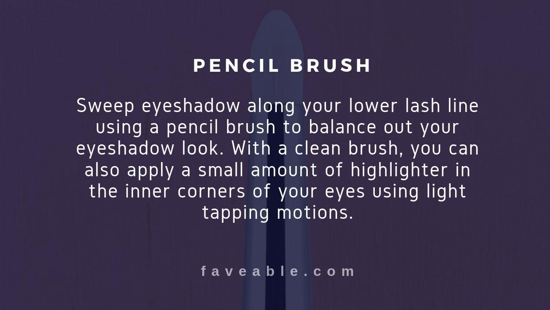 pencil brush instructions