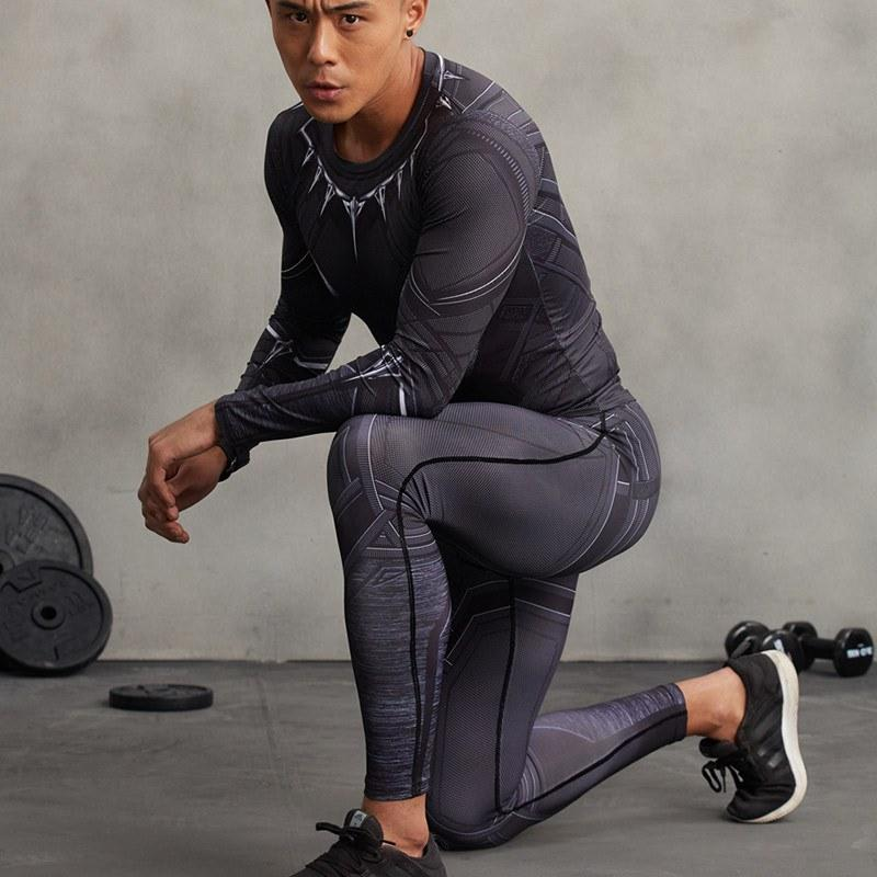 black panther outfit compression pants