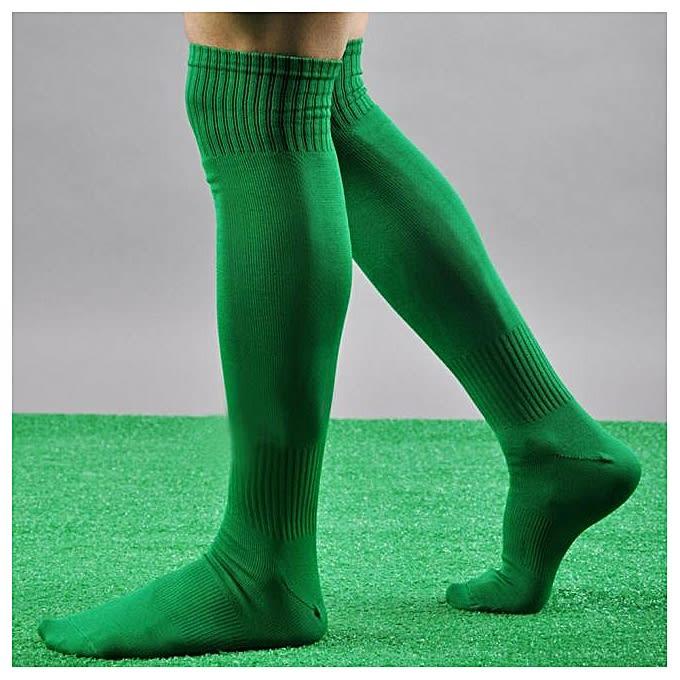 pair of long green athletic socks