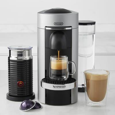 nespresso vertuoplus coffee and espresso maker by de longhi with aeroccino grey