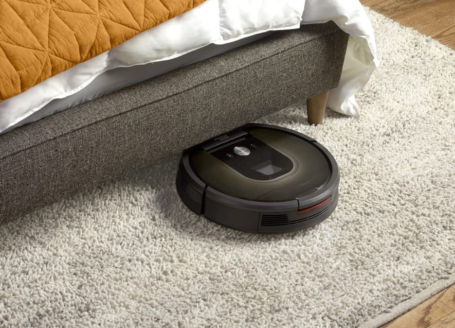 robot vacuum cleaner on a carpet