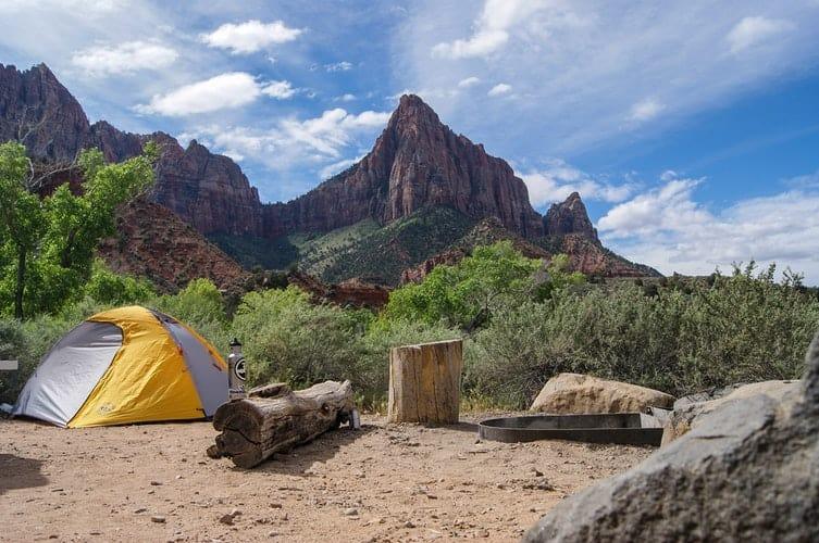 tent with doors