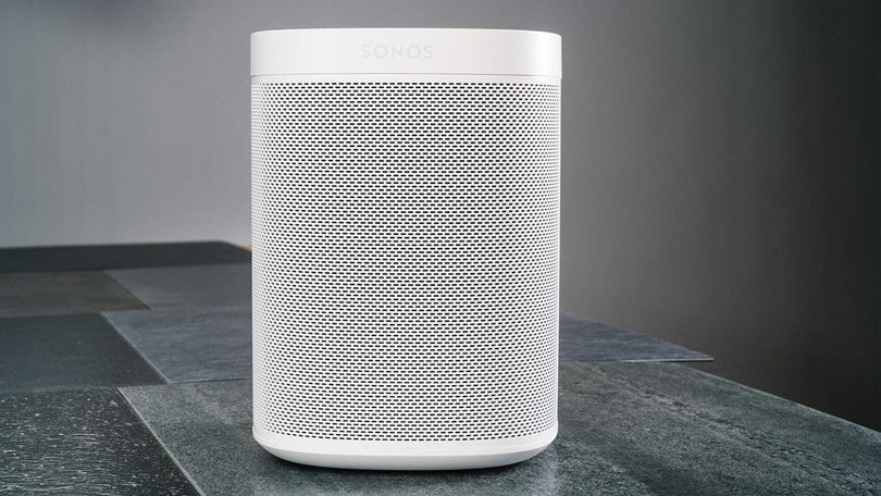 sonos wireless speakers on a table
