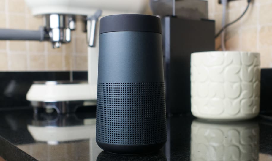 a black speakers paired via bluetooth