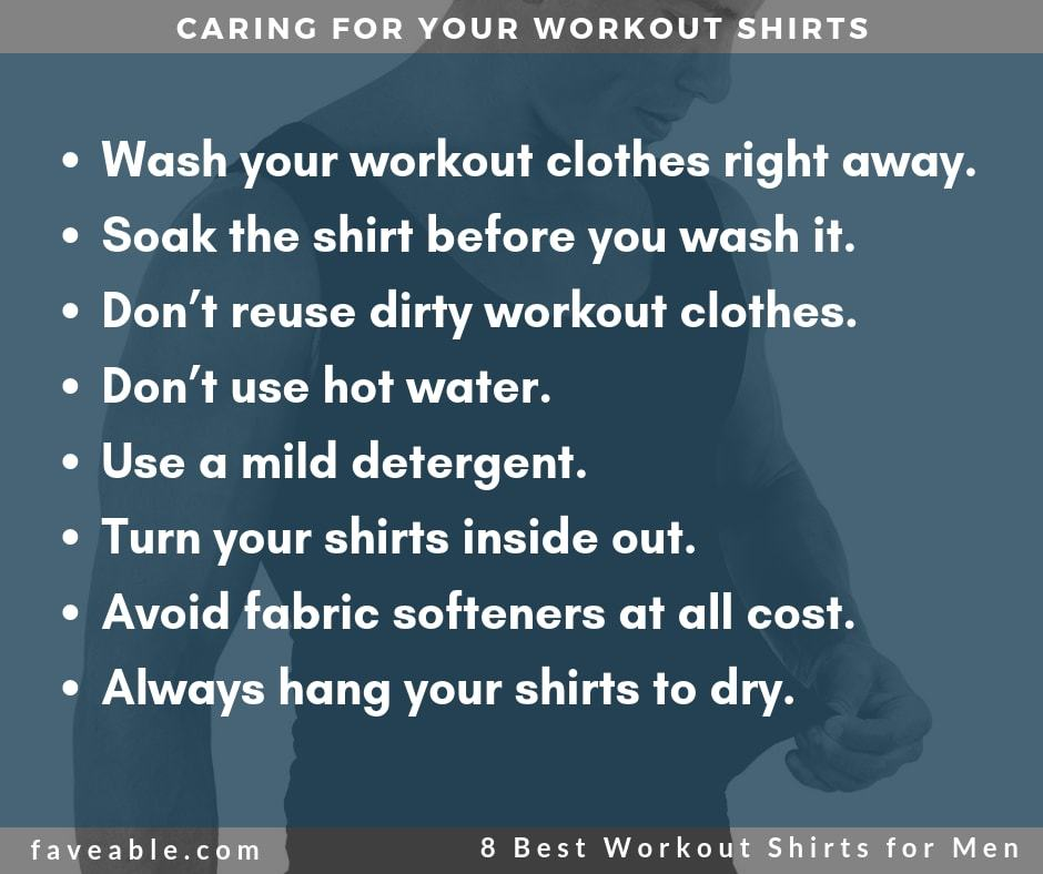 caring for your workout shirts