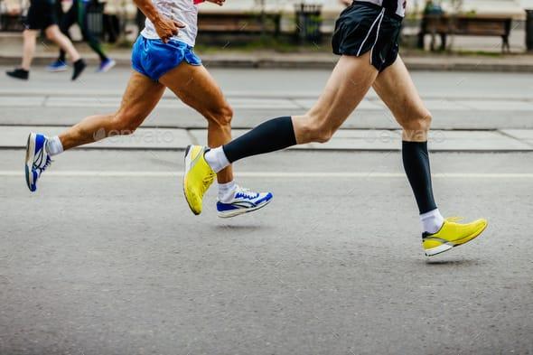 Runners wearing proper workout shorts