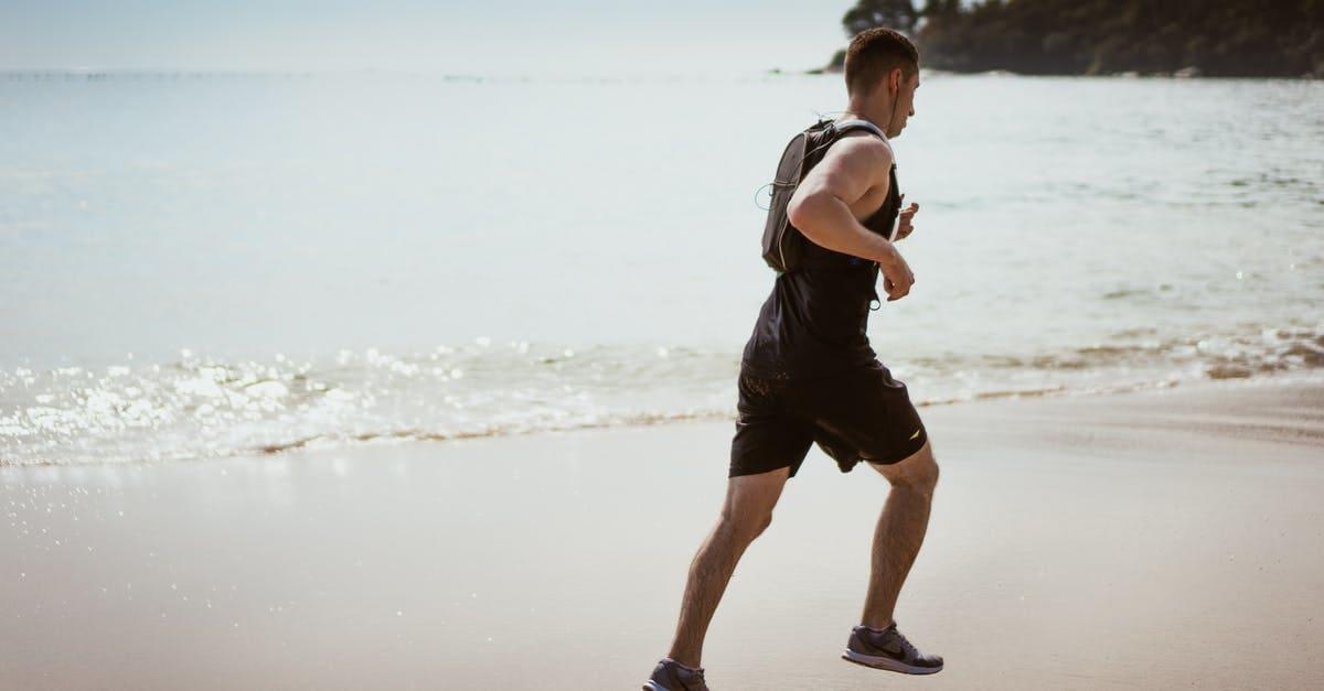 Man running near the beach
