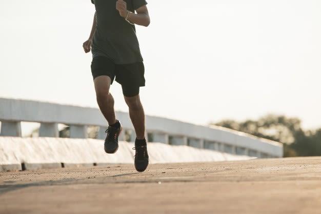 Classic plain black workout shorts